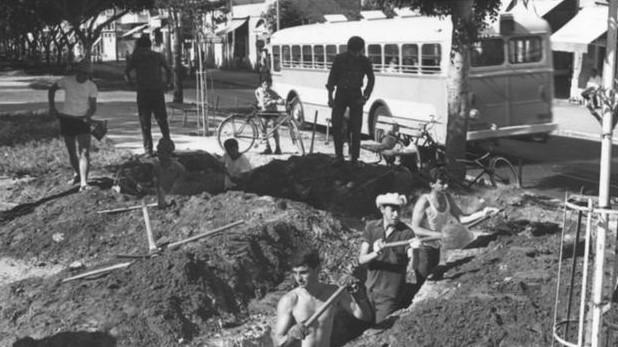 ১৯৬৭ সালে তেল আবিব শহরে যুদ্ধ প্রস্তুতি