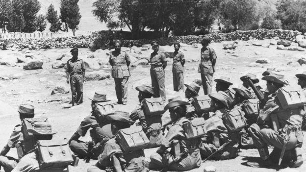 চীনের বিরুদ্ধে ১৯৬২র যুদ্ধে ভারতীয় সেনাদের পাঠানো হচ্ছে লাদাখের একটি ফ্রন্টিয়ার পোস্টে