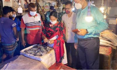 ফিশারিঘাট-রিয়াজউদ্দিন বাজারে ইলিশ নেই, খুচরা বিক্রেতাকে জরিমানা