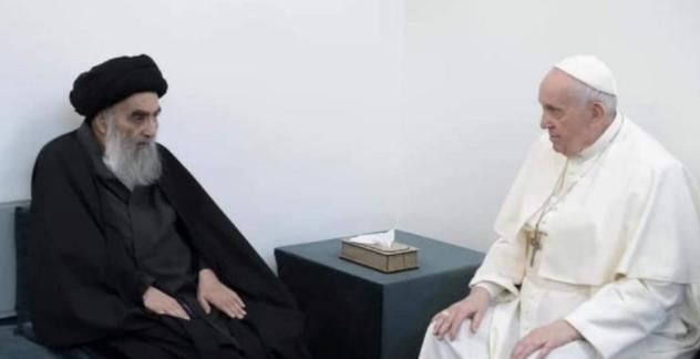 ইরাক: পোপ ফ্রান্সিস এবং শিয়া ধর্মীয় তো আলি আল-সিসতানি ইরাকে খ্রিস্টানদের নিরাপত্তা নিয়ে বৈঠক করেছেন