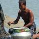 খাউড়াদহ খালে মাছ শিকার